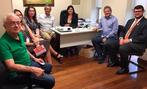 Apresentação do Projeto Reaproveitamento de Rejeito para o Deputado Antônio Carlos Arantes e Assessores